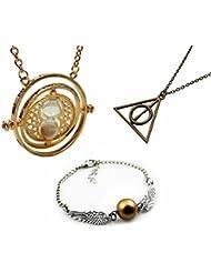 Collar Colgante Tris¢ngulo Reliquias de la Muerte Harry Potter y las Reliquias de la Muerte - plata