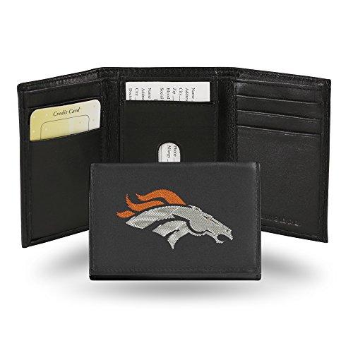 Caseys Denver Broncos Bestickt Leder Tri-Fold Wallet