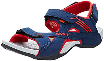 Sparx Women's Blue and Red Athletic and Outdoor Sandals - 5 UK (SS0432L)