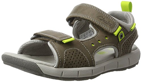 Clarks Jungen Jolly Wild Jnr Slingback, Grau (Grey Leather), 35 EU