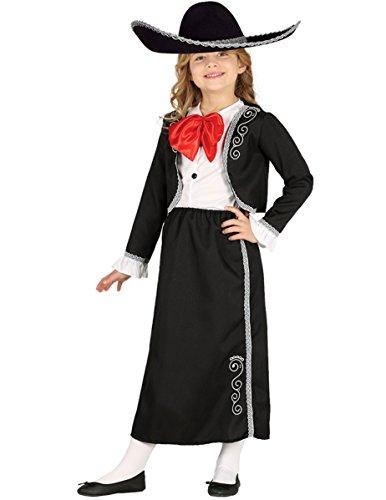 xikanerin für Mädchen 123/134 (7-9 Jahre) (Mariachi Kostüm Mädchen)