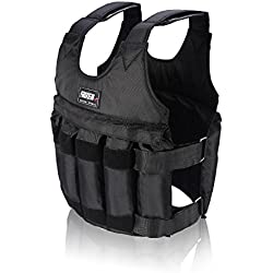 Yosoo 44lb/20 kg Weighted Vest Workout peso chaqueta ejercicio boxeo Fitness Training, 20KG