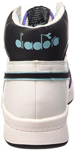 Diadora Basket 80 Act, Sneaker Alte Unisex - Adulto Bianco/Nero/vil Porpora Opul