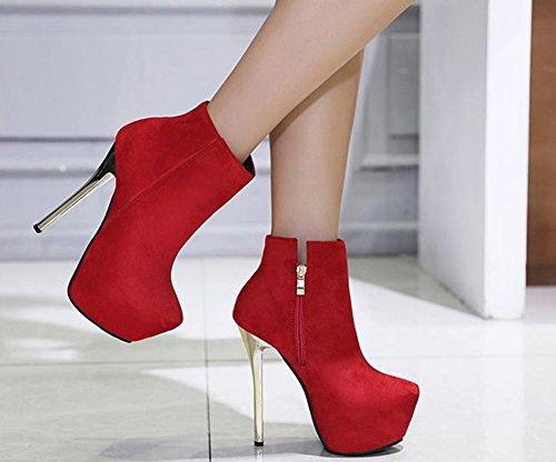 Aiguille Rouge Bottines Plateforme Talon Femme Aisun 1odctrwq Haut Sexy EID92H