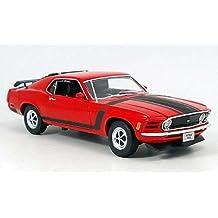 Welly 18002Red–coleccionistas de Ford Mustang Boss 3021970, 1/18de metal, color rojo