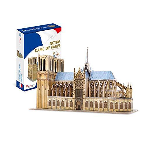 SNIIA Kits de Arquitectura Modelo 3D Puzzle Challenge, Rompecabezas de construcción para Adultos como Regalos de afición, Notre Dame de Paris, Francia - 53 Piezas