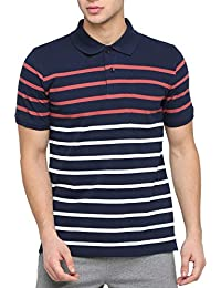 4dcd757da5 BULLMER Men's Half Sleeve Polo Neck Cotton T-Shirt - BUL-BFP302 - Navy