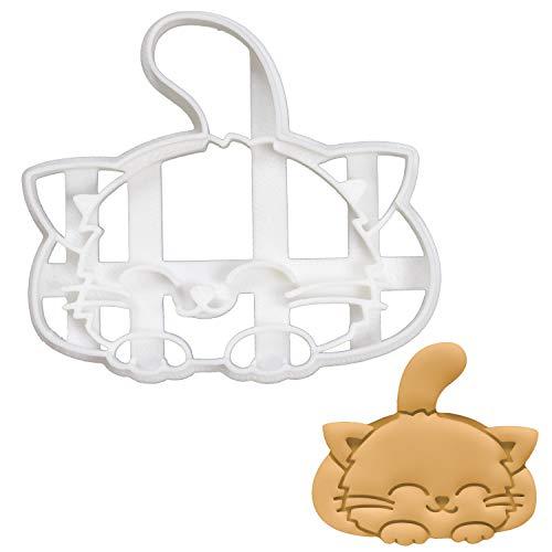 Bakerlogy Niedliche lächelnde Katze Ausstechform, 1 Teil -
