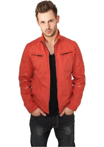 URBAN CLASSICS - Cotton/Leathermix Racer (red) - Jacke