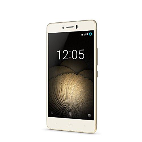 BQ Aquaris U Plus   Smartphone de 5   (4G  WiFi  Bluetooth 4.2  Qualcomm Snapdragon 430 Octa Core  16 GB de memoria interna  2 GB de RAM  cámara de 16 MP  Android 6.0.1 Marshmallow) blanco y dorado
