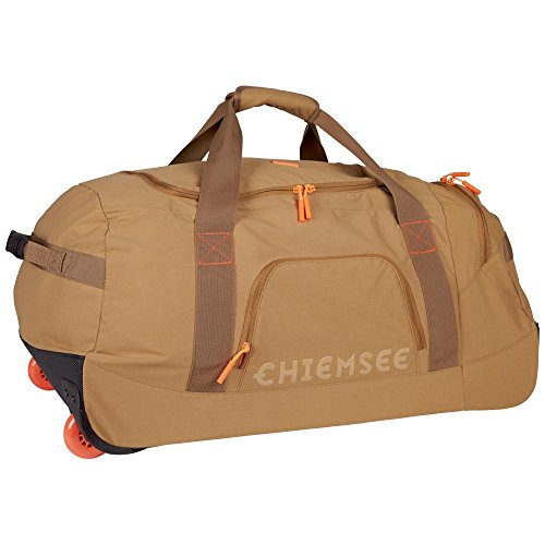 Chiemsee Reisetasche Rolling Duffle Urban Solid mit Trolleyfunktion, 135 Dull Gold, 70 x 32 x 41 cm, 5070203 -