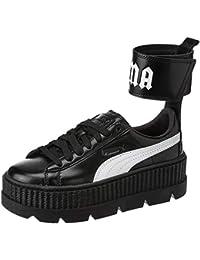 bde21d735 Puma X Fenty Ankle Strap Creeper Black White Red (37 EU)