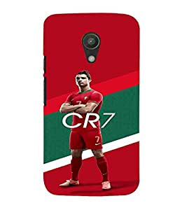 For Motorola Moto G2 :: Motorola Moto G (2nd Gen) man, red green wallpaper, cr7, sports man, sports Designer Printed High Quality Smooth Matte Protective Mobile Case Back Pouch Cover by APEX