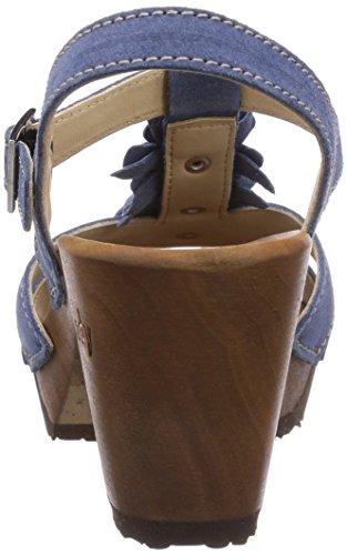 Woody Sarah Damen Pantoletten Blau (Space)