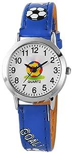 Set: Niños despertador + reloj de pulsera para niño azul Analog sin tic tac) Aprendizaje Despertador con luz Snooze Niños Reloj–Atlanta 1917–5Kau de Atlanta