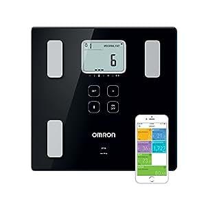 OMRON VIVA Bilancia Diagnostica Smart, Bluetooth, App OMRON Connect, Dispositivo Medico Clinicamente Validato, Nero