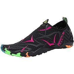 SAGUARO Escarpines Zapatos de Agua Calzado Playa Zapatillas Deportes Acuáticos para Buceo Snorkel Surf Natación Piscina Vela Mares Rocas Río para Hombre Mujer(018 Rose, 37 EU)