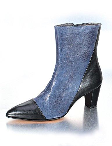 Fidji , Bottes classiques femme Beige - Bleu/noir