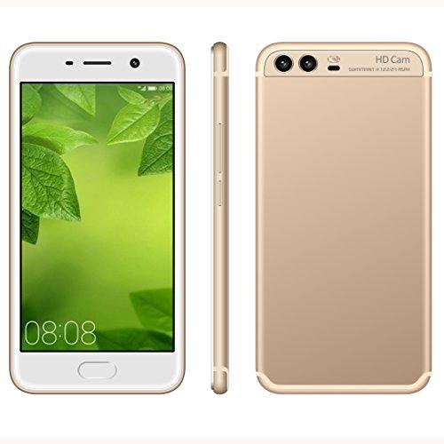 Móviles y Smartphones Libres,J6 3G Teléfono Móvil Libre y sin Bloqueo de SIM Baratos,5 Pulgadas con Pantalla HD Procesador,5.0MP HD Cámara,Dual SIM,1GB RAM & 4GB ROM GSM/WCDMA GPS (Champagne Gold)