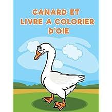 Canard et livre a colorier d'oie