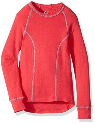 WATSONS 'S Double Layer Long Sleeve TOP, Mädchen, Korallenrot, Large -