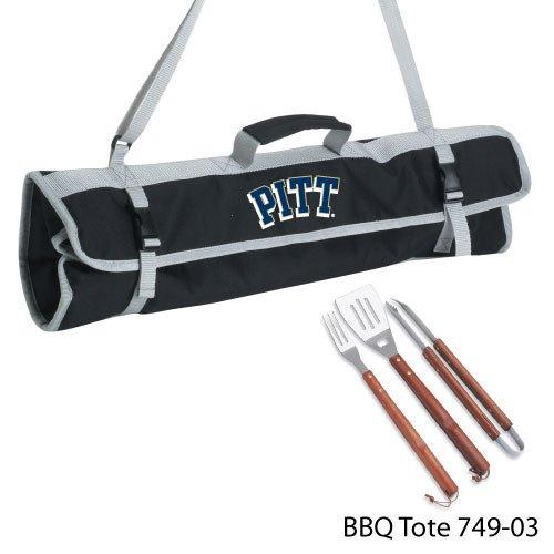 Picnic Time NCAA Pittsburgh Panthers Grill-Werkzeug-Set mit Tasche, 3-teilig - Pittsburgh-werkzeug-set