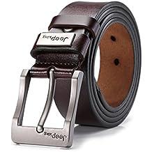 "Tekon nuovo business Men Split Cintura in pelle vacchetta 1,5""Vintage Classic Jean Pin Buckle Cinture 104,1- 124,5cm Free Trim"