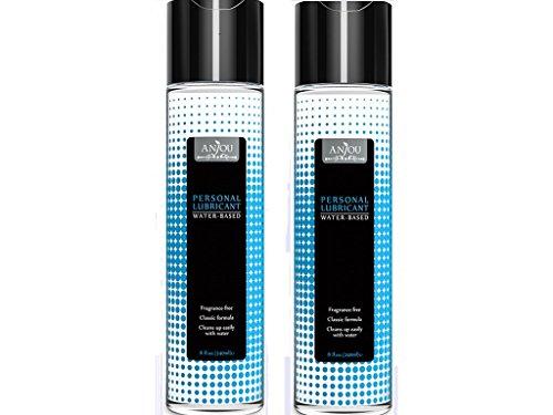 Anjou Aqua Gleitgel Langzeitwirkung auf Wasserbasis für Frauen und Männer (Spendet Feuchtigkeit, Lindert Vaginale Trocknenheit) - 240ml x 2
