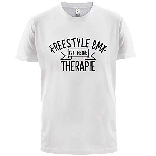Freestyle BMX ist meine Therapie - Herren T-Shirt - 13 Farben Weiß