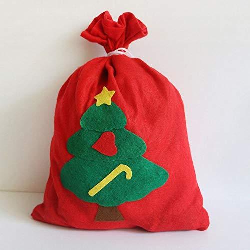 Gz sacchetto per regali di natale sacchetto per babbo natale sacchetto in tessuto non tessuto decorato a mano,rosso,3