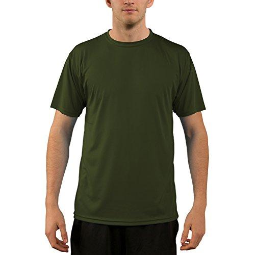 Vapor Apparel Herren UPF 50+ UV Sonnenschutz Kurzarm Performance T-Shirt L OD Grün -