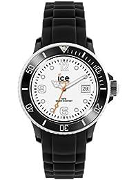 Ice-Watch - ICE white Black White - Montre noire mixte avec bracelet en silicone - 013823 (Large)