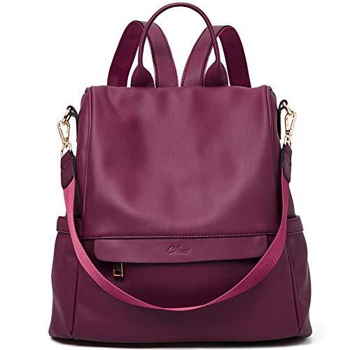 Zaino donna antifurto zaino scuola casual multifunzione zaino viaggio donna borsa a tracolla per donna trasformabile rosso