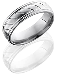Titanium, Cable Style Satin Polished Wedding Band (sz H to Z1)