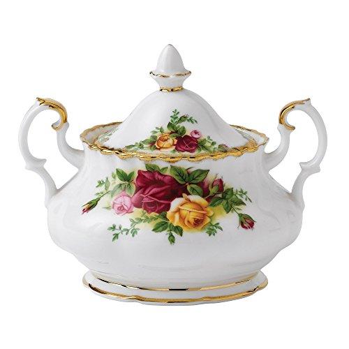 Royal Albert Old Country Roses Kaffeebecher, mehrfarbig Zucker, mit Deckel SUGAR BOWL gold Fine China Sugar Bowl