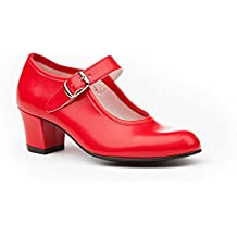 Fabriqué En Espagne Chaussures De Danse De Flamenco Sévillane Fille Ou Femme Taille De T1554 Danka Rouge 35 3ovNdLyI