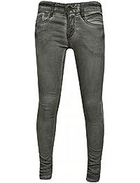 Blue Rebel - Fille pantalon jeans délavé, gris