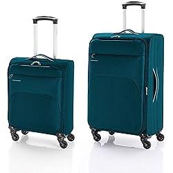 Gabol Pack de dos Maletas, 69 cm, 31 L / 60 L, Azul Petróleo