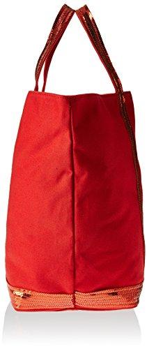 Vanessa Bruno Cabas Medium + -Coton et Paillettes, Cabas rouge(344 Carmin)