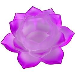 Lotus portavelas en cristal