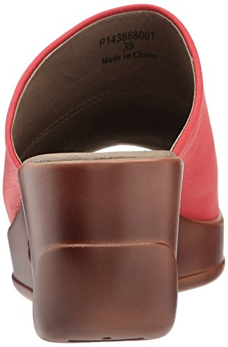 Fly London Womens HIMA868FLY Wedge Leather Sandals Rouge