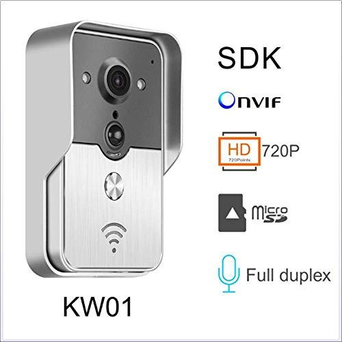 ZNHL WiFi-Video-Türklingel, Ultra Low-Power-Home-Alarm intelligente drahtlose Video-Intercom-Tore Handy Fernvideo für Indoor und Outdoor