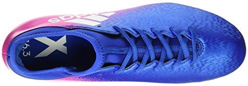 adidas X 16.3 Fg, Chaussures de Football Entrainement Homme Multicolore (Blue/ftwwht/shopin)