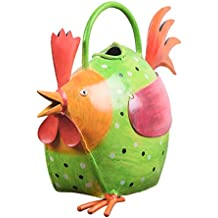 Decorative ferro Annaffiatoi Pentola con Forma Gallina a Outdoor Indoor giardinaggio Decor