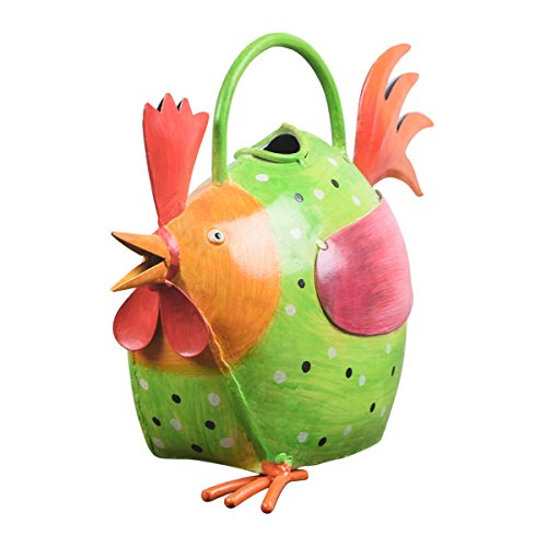 Decorative ferro Annaffiatoi Pentola con Forma Gallina a Outdoor Indoor giardinaggio Decor Accessori