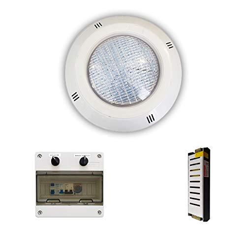 Swimhome LED-Strahler 15 W RGBV + Kabel 4 Kabel konfigurierbar + Trafo + Elektrorahmen (bis zu 1 HP) 1 Foco