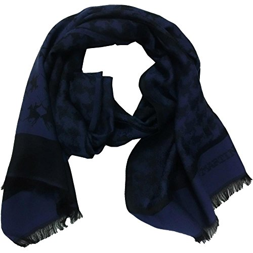 La Martina sciarpa unisex 1377 - Pashmina 70% viscosa 30% seta, Blu