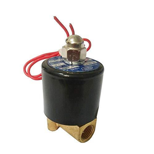 """vanpower AC 220V Zwei-Wege-Wege-Kanal Elektrisches Magnetventil Pneumatisches Ventil für Wasser Öl Luftpumpe, Dn8 1/4"""", 74x50x38mm/2.91x1.97x1.5in"""