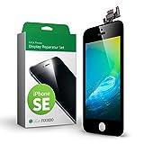 GIGA Fixxoo iPhone SE Komplettes Display Ersatz Set Schwarz, LCD mit Touchscreen, Retina Display, Kamera & Näherungssensor - Einfache Installation für Do-It-Yourself