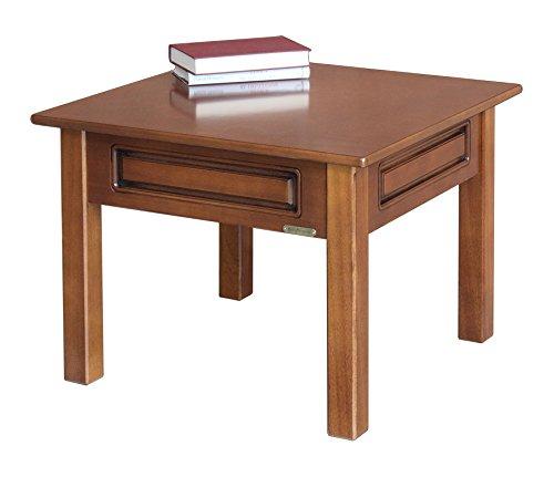 Arteferretto Table Basse carrée de Salon 61x61 cm en Bois, Petite Taille, Teinte merisier, pour Salon, Style Classique, Design Italien